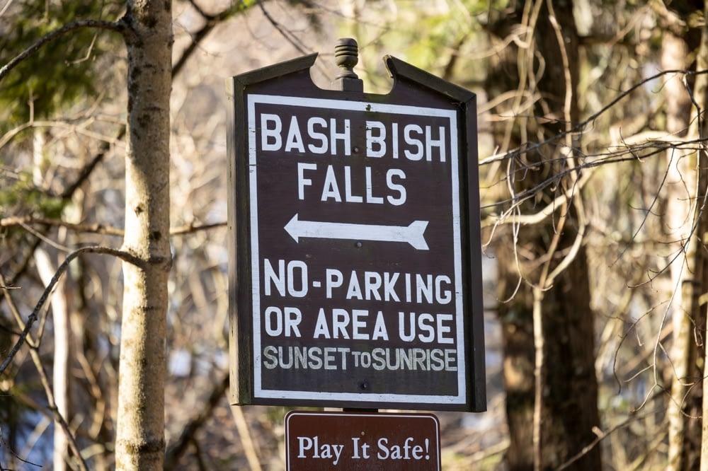 Bash Bish Falls signage