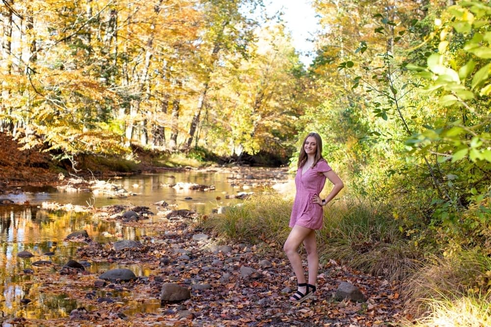 high school senior girl at mclean game refuge