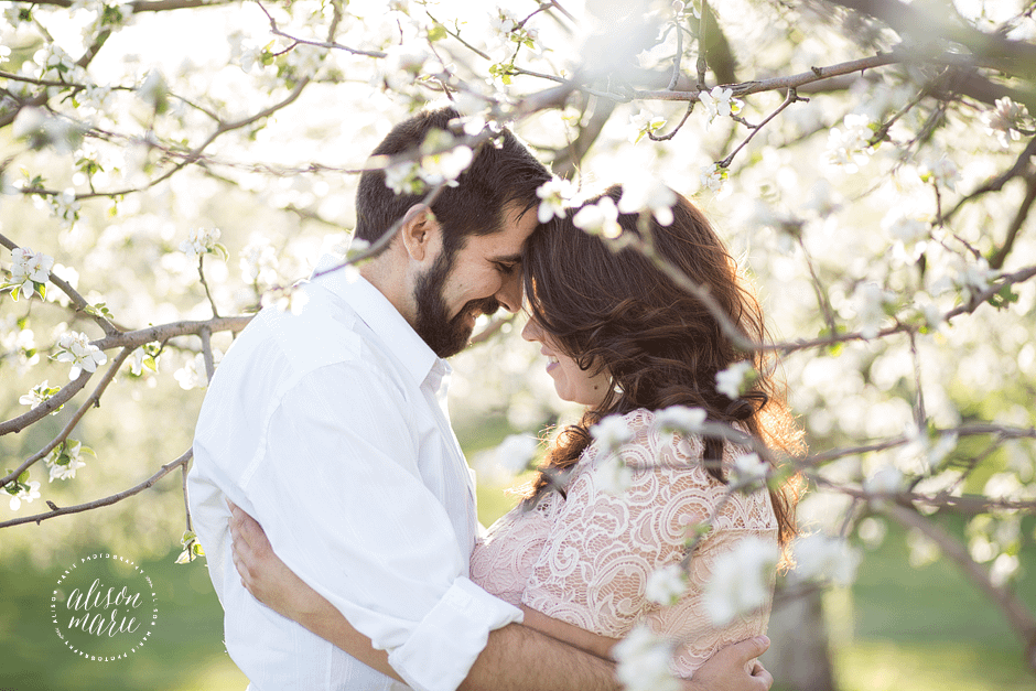 Lost Acres Orchard Granby CT couples session